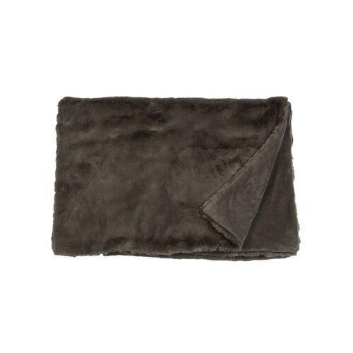 Miami Blanket Union Rustic Colour Slate Grey Velvet Bedspread
