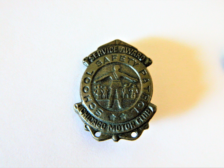 Vintage 50s Brass Chicago Motor Club School Safety Patrol