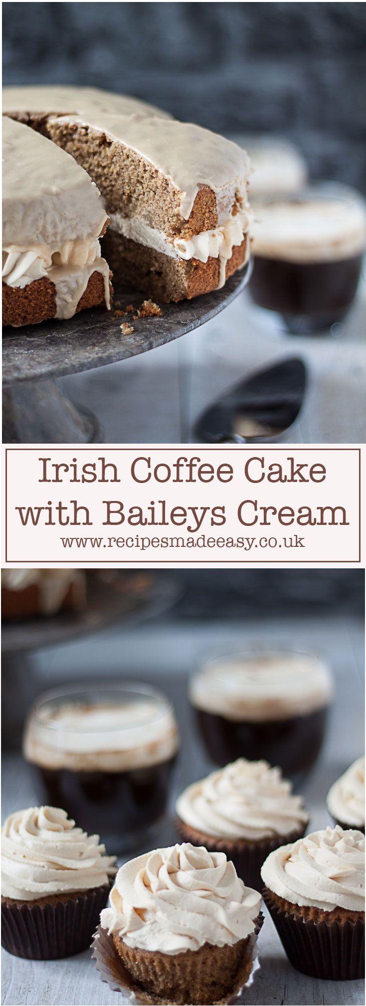 Irish Coffee Cake with Baileys cream Recipe Irish