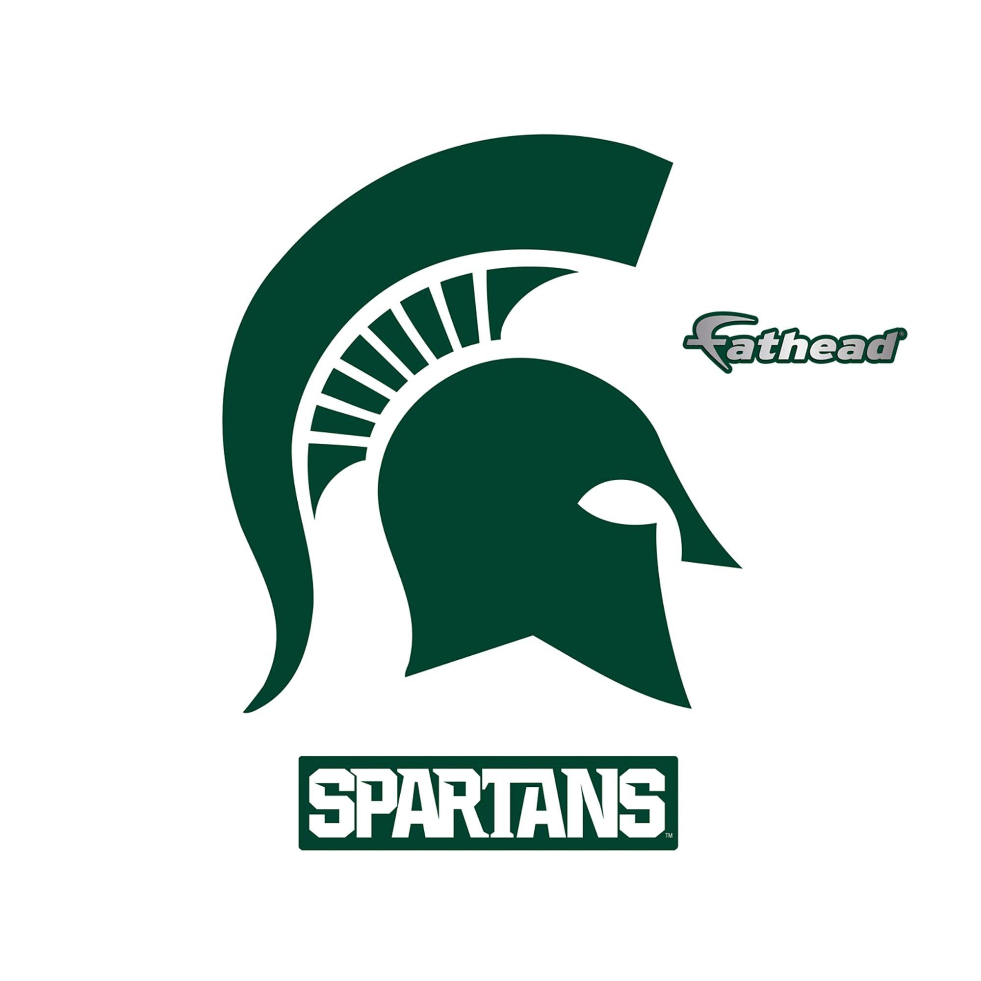 SET of 2 Michigan State University Spartan Logo Cornhole Decals