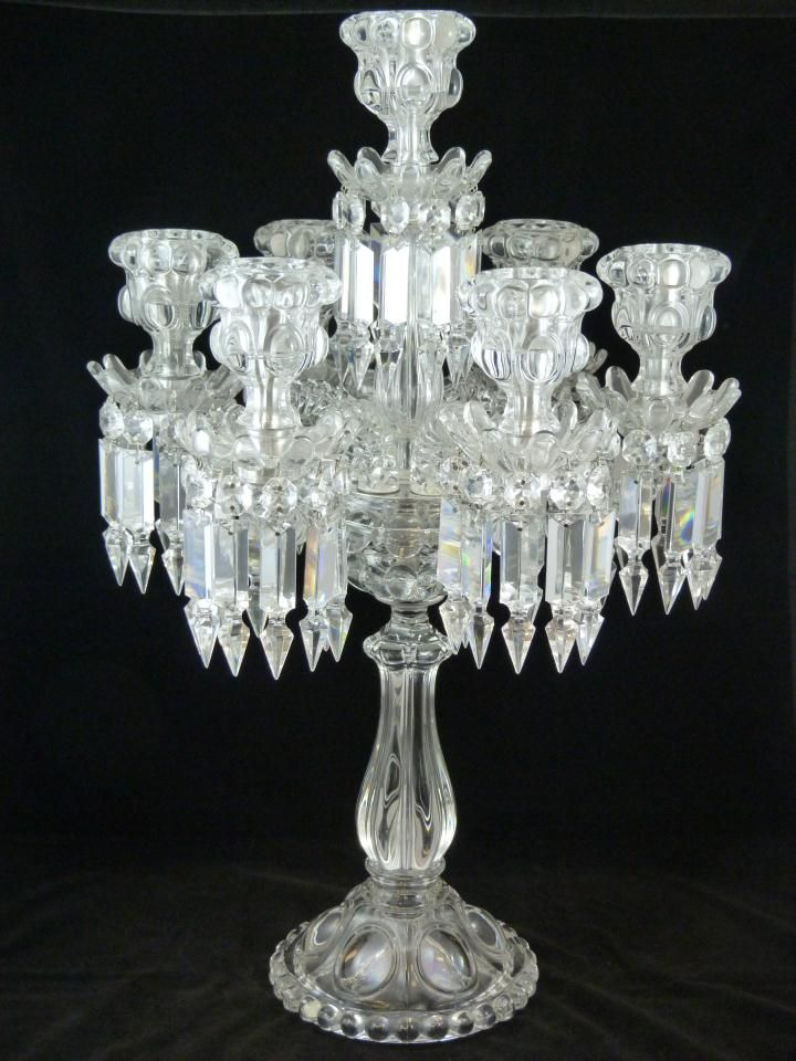 Baccarat French Crystal Seven Armed Candelabra This Would Look Perfect On My Mirrored Centerpiece