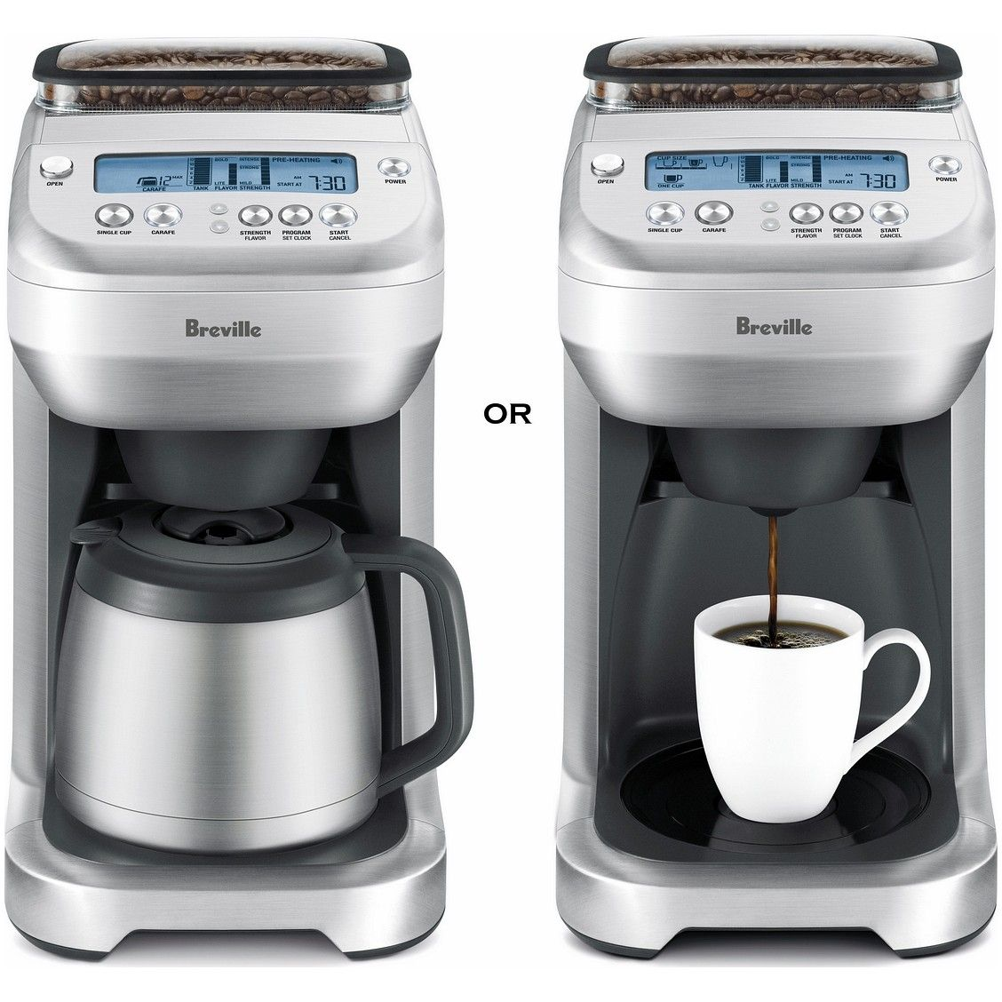 Coffee Maker W/ Grinder One Cup or Carafe You Brew Coffee