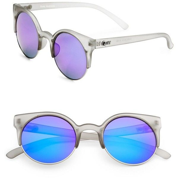 uv protection and polarized sunglasses  Quay Australia 63mm Polarized Sunglasses ($45) 鉂? liked on ...