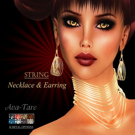 Ava-Tare STRING Necklace & Earring