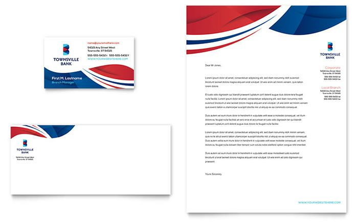 Bank Business Card And Letterhead Template Design By Stocklayouts Business Card Template Word Letterhead Template Design Download Business Card