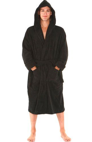bf71b692387 Men`s Extra Thick Terry Cotton Hooded Bathrobe  79.99 (38% OFF) +