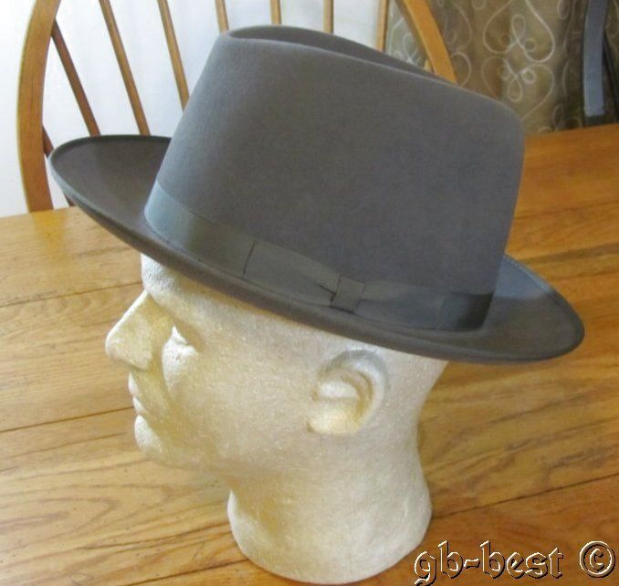 0aaac9abf Details about Vintage Cavanagh Hat New York, Men's Gray Fedora, Size ...