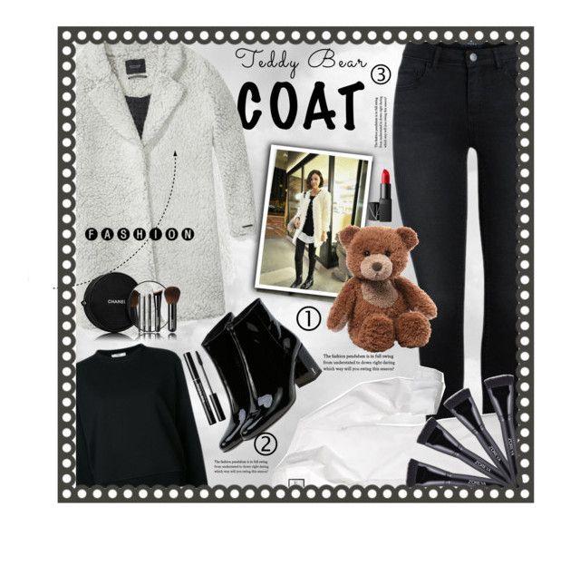 """Teddy Bear Coat!"" by gianna-pellegrini on Polyvore featuring moda, Fendi, Maison Scotch, Yves Saint Laurent, Chanel, NARS Cosmetics, Gund e teddybearcoats"