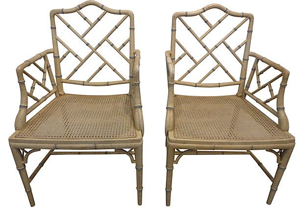 Charmant One Kings Lane, Faux Bamboo Chippendale Armchairs
