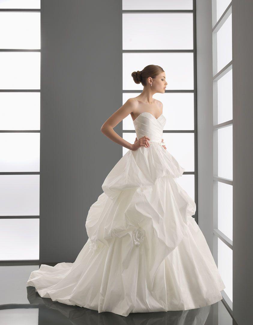 Ecru wedding dress  PROA  Taffeta and beadwork gown in ecru style   Wedding