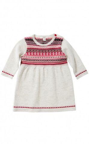 Pure Baby Aztec Fair isle knitted dress | fashion deli children's ...