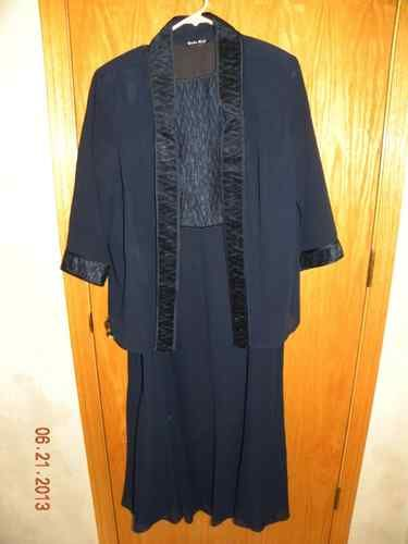 Formal Wedding Cruise Gown Black with matching jacket