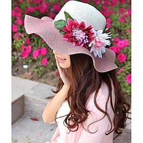 Flores de la mujer sombrero de la playa  ad993819ab3