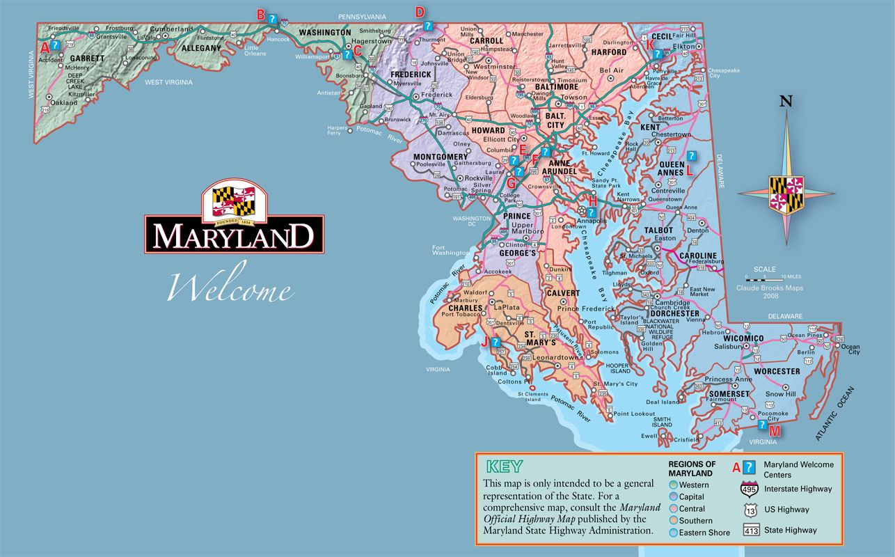 map of eastern shore md Map of Welcome Center Maryland My