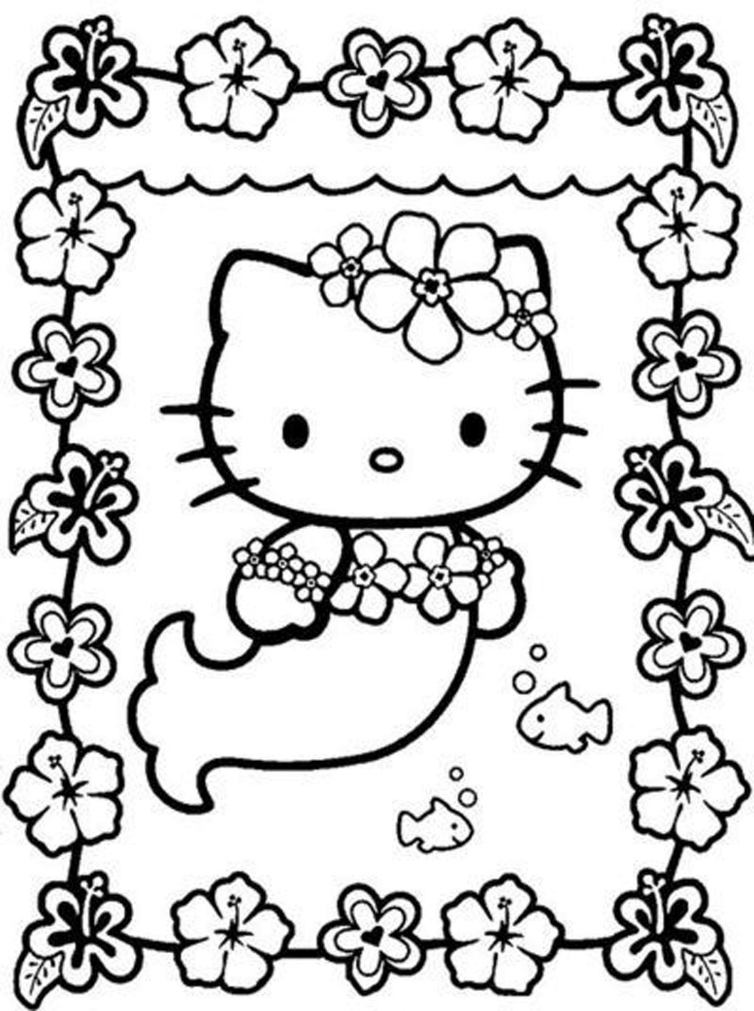 Hello Kitty Coloring Pages Hello Kitty Coloring Pages For Girls Hello Kitty Coloring Kitty Coloring Mermaid Coloring Pages