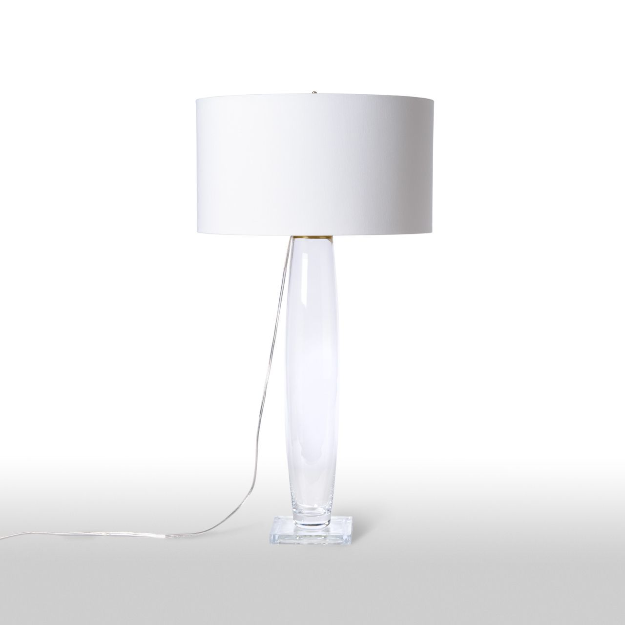 Our Barbara Cosgrove Glass With Square Base Table Lamp Clear
