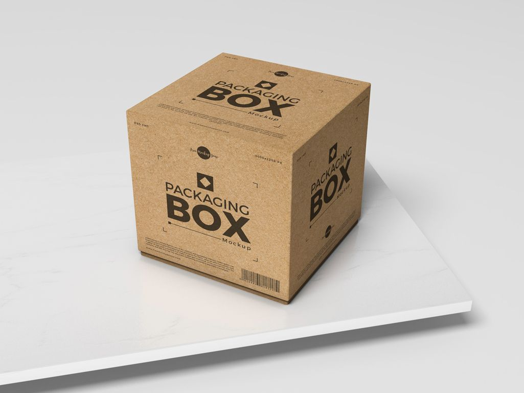 Download Free Psd Packaging Box Mockup For Presentation Box Mockup Box Packaging Craft Box