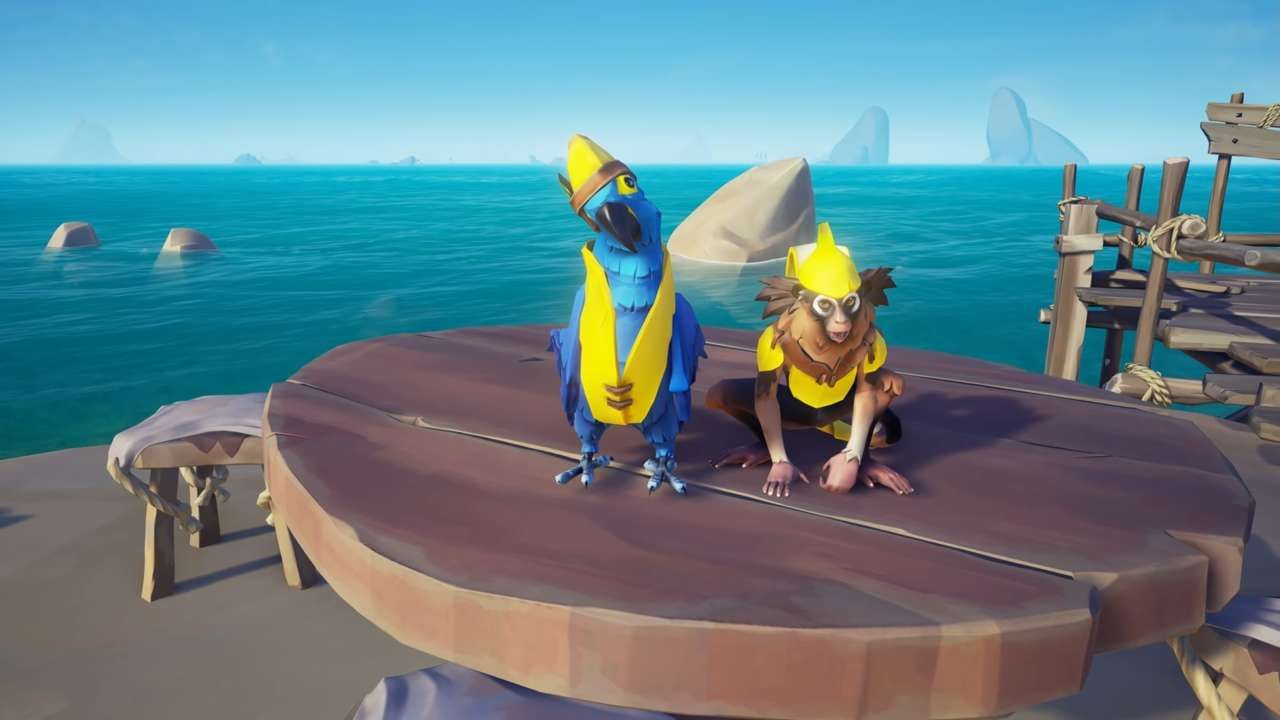 Next Sea Of Thieves Update Will Let You Dress Your Pet Up Like A Banana In 2020 Sea Of Thieves Your Pet Pets