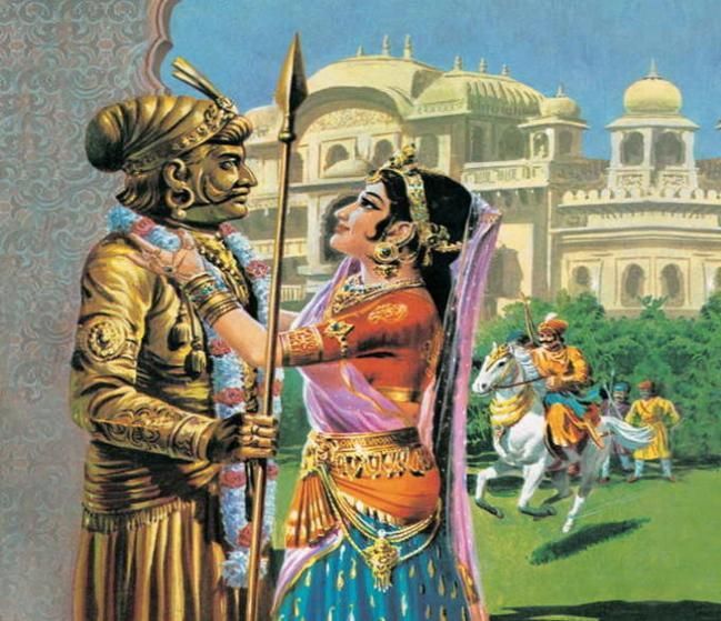 Image result for prithviraj chauhan and wife