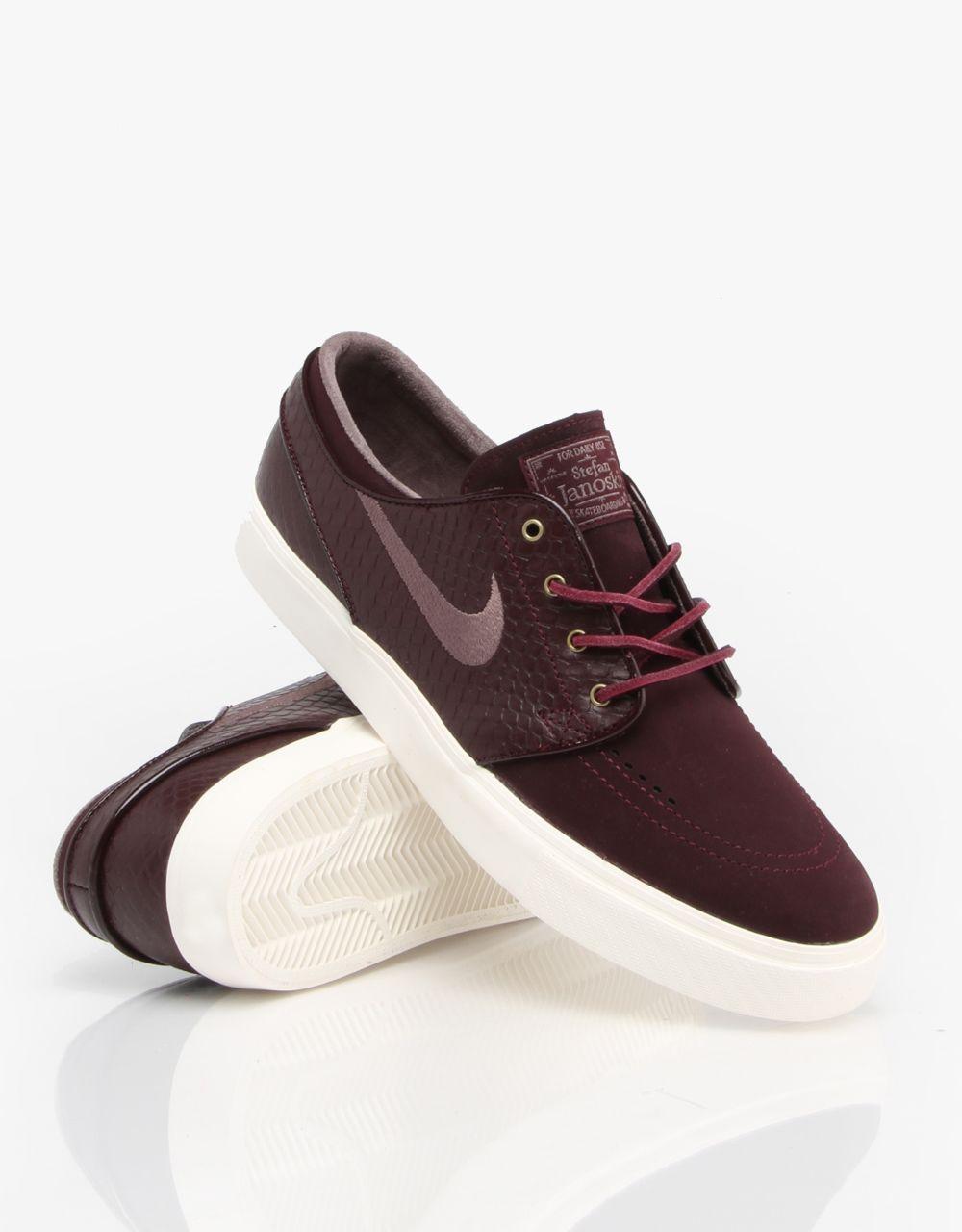 Nike SB Zoom Stefan Janoski Premium Skate Shoes - Deep Burgundy/Violet -  RouteOne.