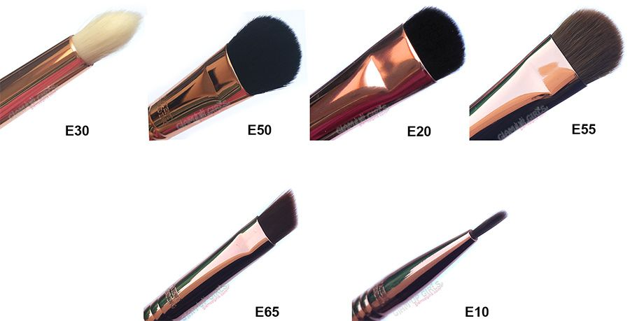 Sigma Beauty Copper eye shadow shading and liner brushes.