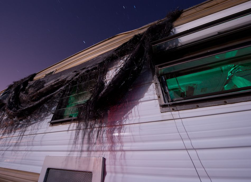 Awning Battered By The Desert Wind And Sun This Rv Awning Has Turned To Shreds Inside Rv Lit With Green Gelled Strobe Triggered M Rv Lighting Photo Strobing