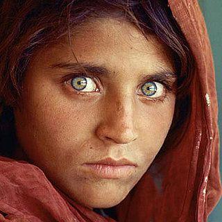 the spooky afghan girl,by steve mccurry