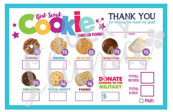 graphic relating to Printable Girl Scout Cookie Order Form identified as LBB Female Scout Cookie Invest in Style/Armed service Answer - Printable