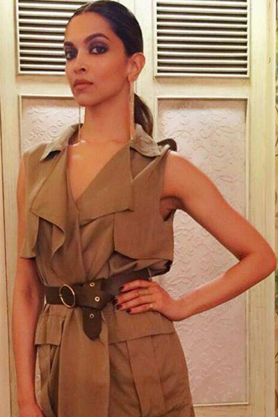 Deepika Padukone during `Tamasha' promotions in Mumbai ...