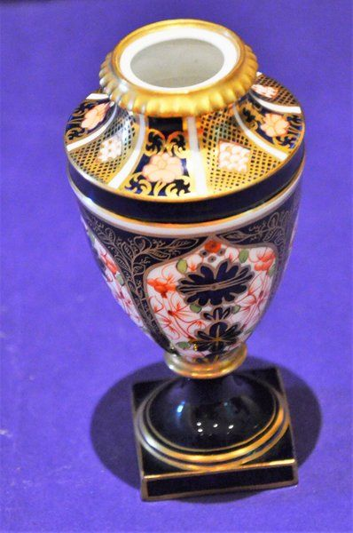ROYAL CROWN DERBY IMARI 1920'S SMALL VASE