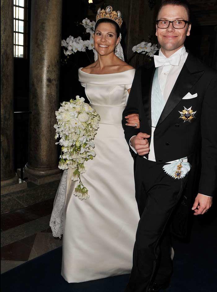 HRH Crown Princess Victoria of Sweden leaves Stockholm Cathedral ...