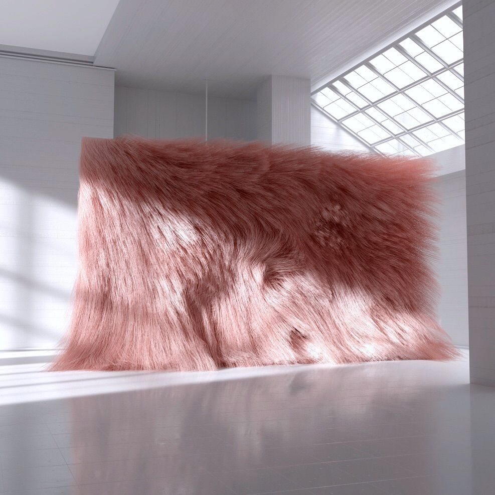 My Kind Of Wall Installation 2018 Synthetic Fur On A Standing Wall By Reisinger Andres Contemporary Art Installation Wall Installation Installation Art