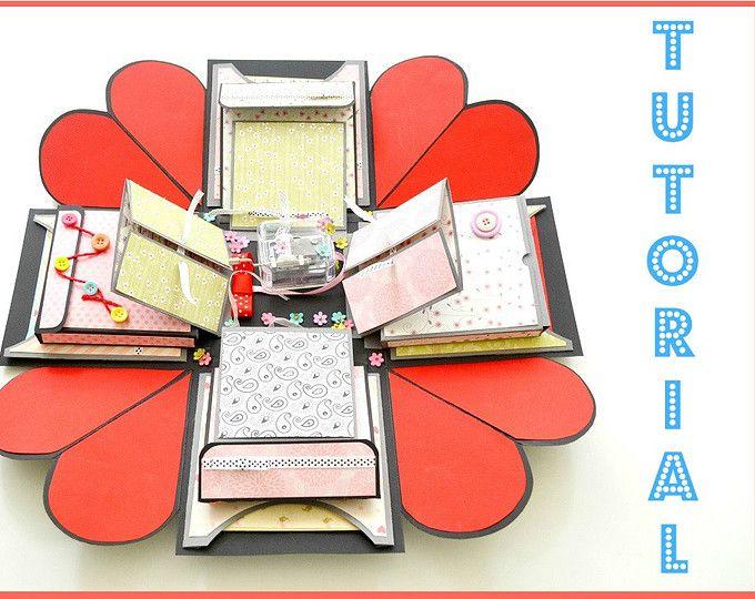 exploding box love explosion box dimensions gift box template anniversary gift box. Black Bedroom Furniture Sets. Home Design Ideas