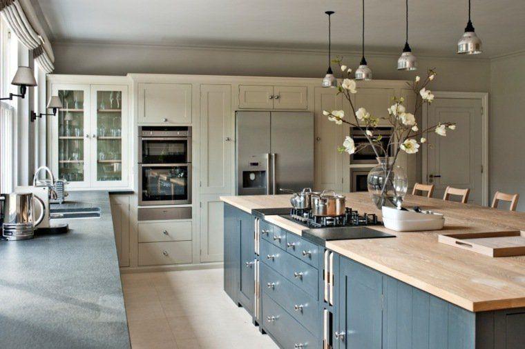 Photo cuisine avec plan de travail moderne en 65 idées Smallest - installation plan de travail cuisine