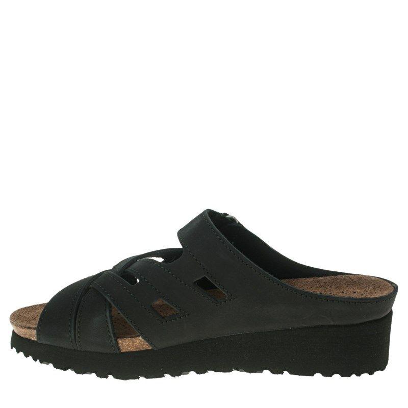 Spring Step Women's Sabra Wedge Sandals (Black) - 37.0 M