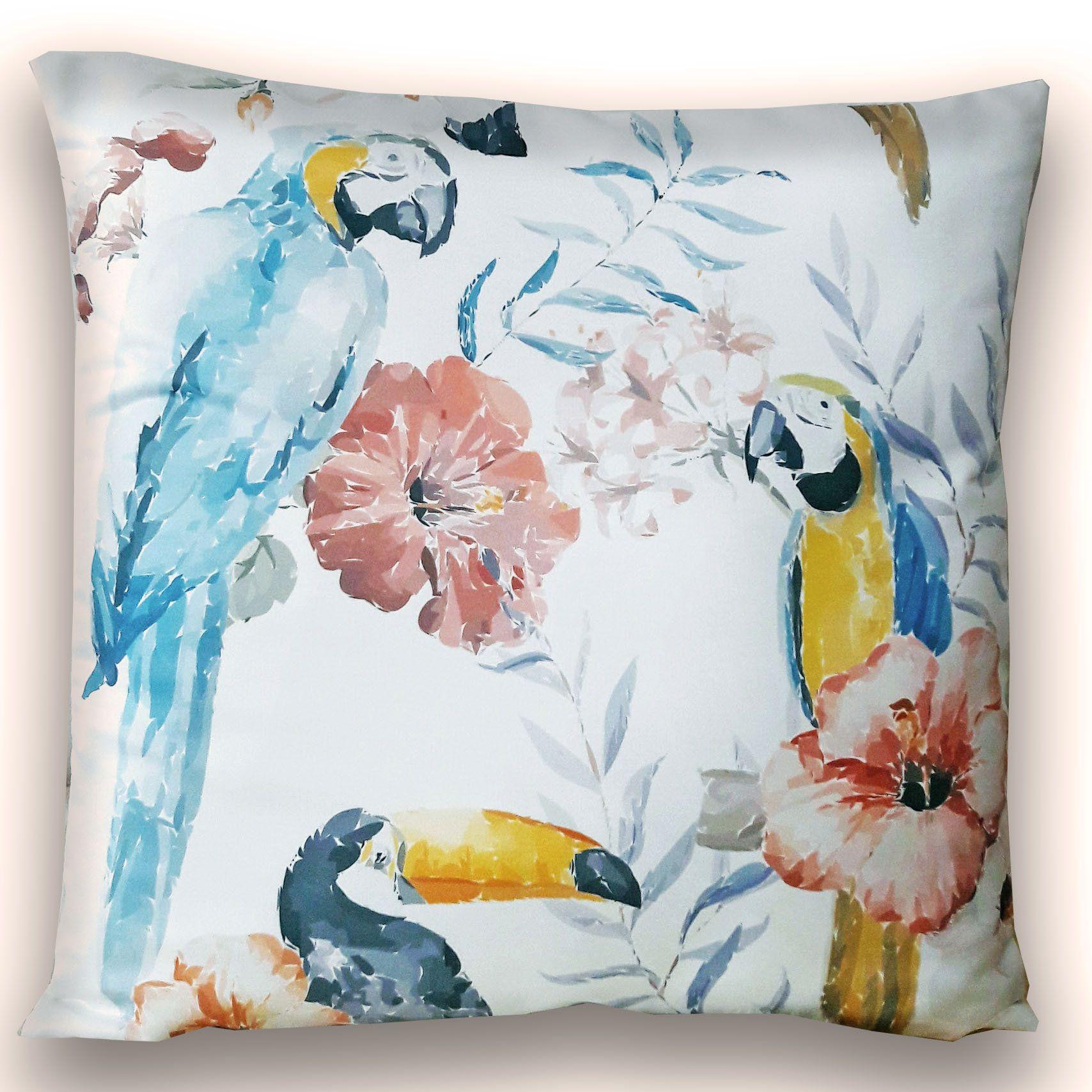 Blue Flamingo Satin Housses De Coussin Set