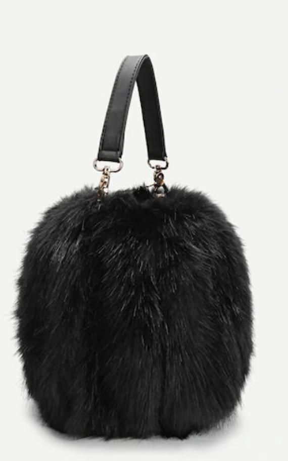 Shoulder Bags For Women Bucket Faux Fur NEW Lady Bags Handbags