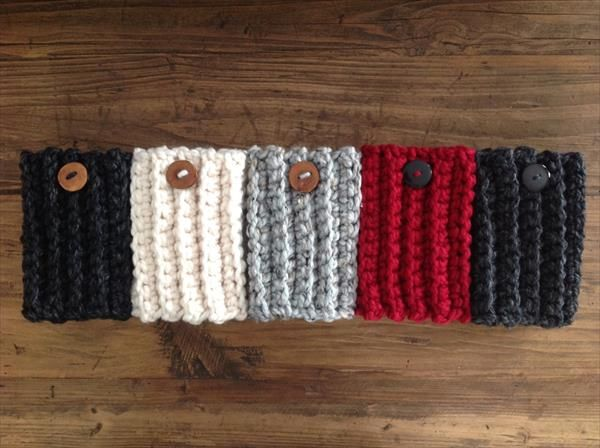 Chunky Crochet Boot Cuffs