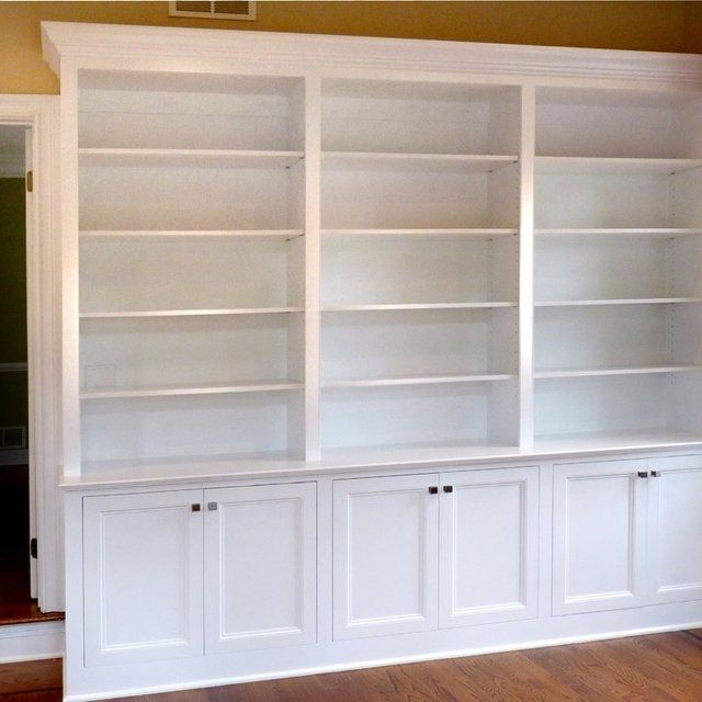 Home Office Built In Bookcases Two Depths Between Cabinets And