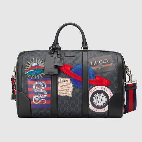 Bolsa de Viaje de Mano Night Courrier GG Supreme Suave   Pinterest ... 5c5c5228520