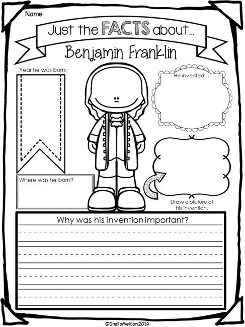 Ben Franklin--could tweak for first grade | Social studies and ...
