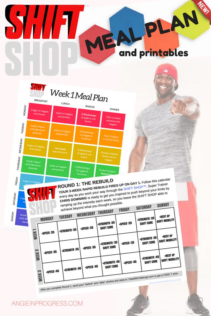 Shift Shop Printable Workout Calendar And Meal Plan Workout Calendar Printable Workouts How To Plan