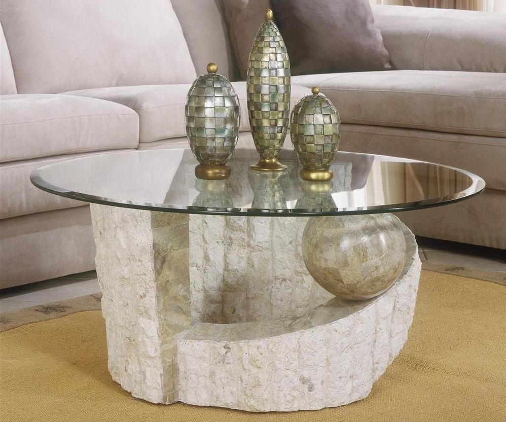 Stone Glass Coffee Table - Modern Wood Furniture Check more at //.nikkitsfun.com/stone-glass-coffee-table/ & Stone Glass Coffee Table - Modern Wood Furniture Check more at http ...