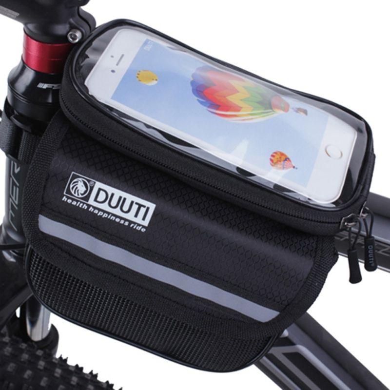 Bicycle Frame Head Top Tube Waterproof Bike Bag Cycling Touch Screen Phone BagX