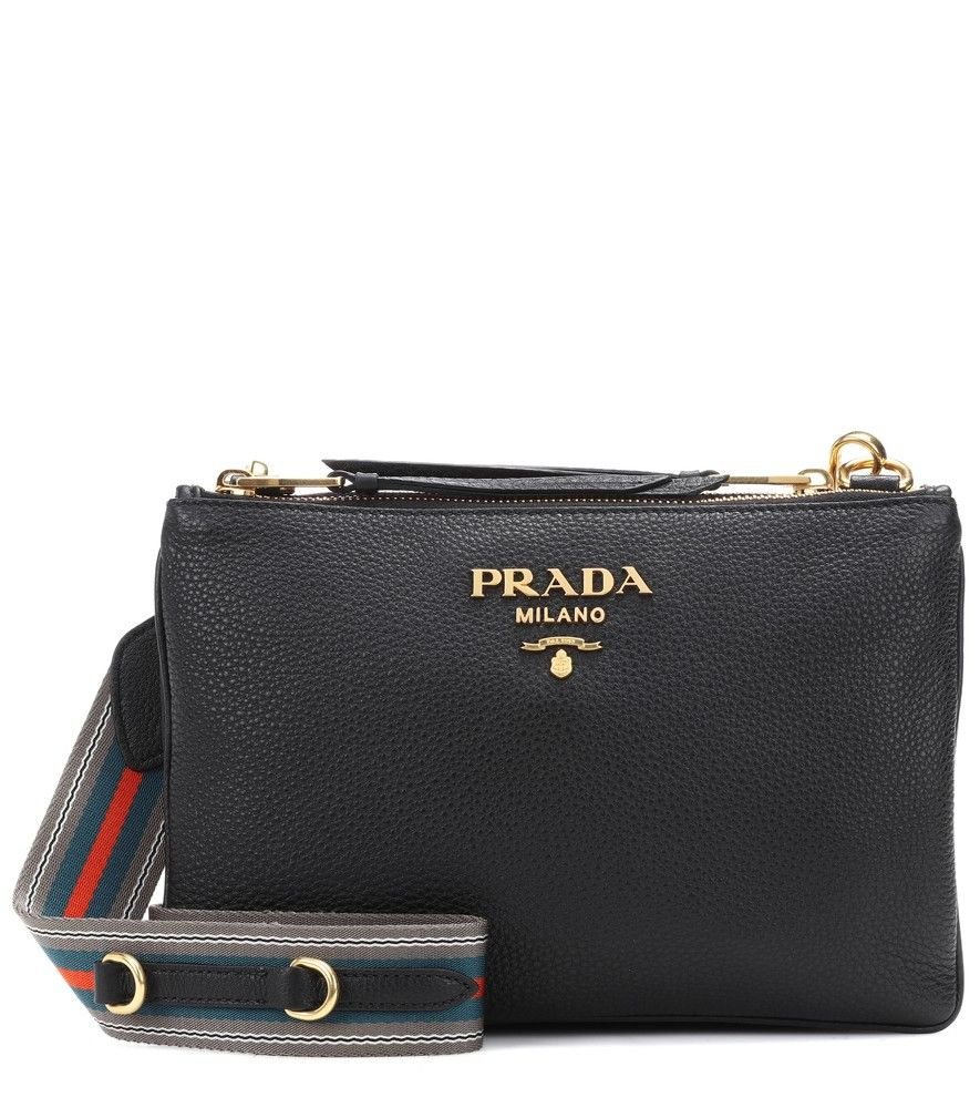 cbe808d50765 Prada - Daino Small leather crossbody bag - Prada's black crossbody bag is  a timeless style that will transcend seasons with ease.