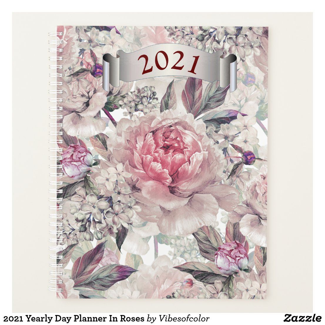 2021 yearly day planner in roses day