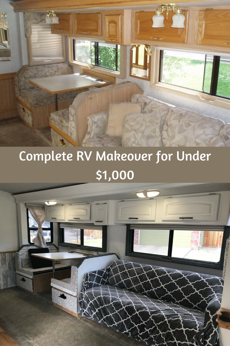 extreme rv makeover - for less than $1000 - charity's tips | rv
