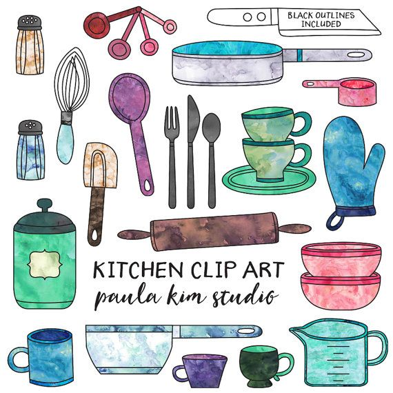 Digital Download Kitchen Clipart Commercial Use Kitchen Clip Art