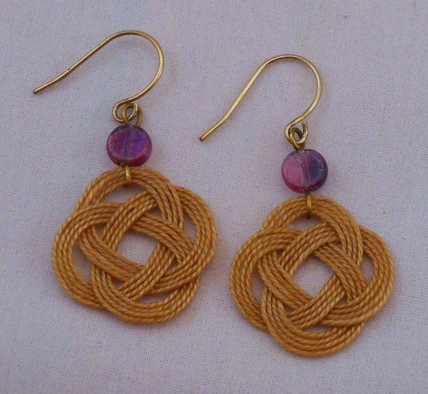 f62f48edc Celtic Knot Carrick Knot Hand Tied Thread Earrings. $8.50, via Etsy ...