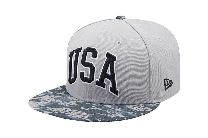 e516d88e485 New Era 9 Fifty USA Digital Camo Military Gray Snapback Baseball Cap Hat   NewEra  BaseballCap